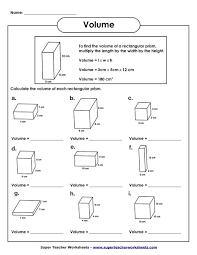 finding volume of rectangular prisms worksheets worksheets