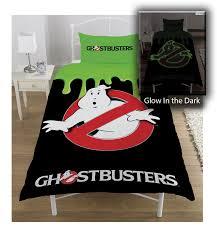 ghostbusters u0027no ghost u0027 glow in the dark panel single bed duvet