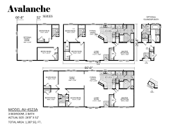 carefree homes in salt lake city ut manufactured home dealer avalanche av 4523a plan photos