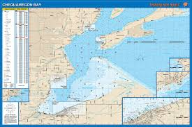 Wisconsin Topographic Map by Bay Superior Fishing Map Lake Ashland Bayfield Co