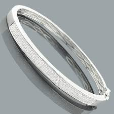 bangle bracelet mens images Mens diamond bangle bracelet in sterling silver 0 63ct jpg