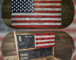 american flag gun cabinet large rustic concealed weapon flag by santanwoodworks on etsy cr