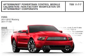 ford issues tsb warning against modifications and aftermarket