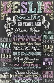 60 yrs birthday ideas the year 1956 personalized 60th birthday printable poster
