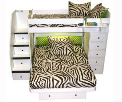 Sierra Twin Over Full Space Saver With Chest And Stairs - L shaped bunk beds twin over full