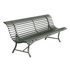 Modern Metal Outdoor Furniture Buy Fermob Louisiane Bench A Colourful Modern Metal Garden Bench