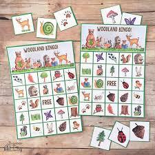 Bingo Halloween Printable by Woodland Bingo Bugaboocity