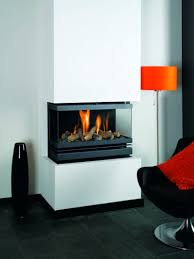 creative modern 3 sided gas fireplace design homesfeed