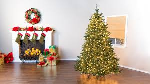how to put lights on a christmas tree video christmas tree basics fluffing lighting youtube