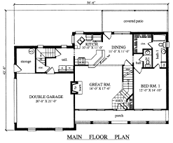 plan42 country style house plan 4 beds 2 5 baths 1815 sq ft plan 42