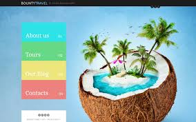 traveling websites images Website template 46037 bounty travel agency custom website jpg