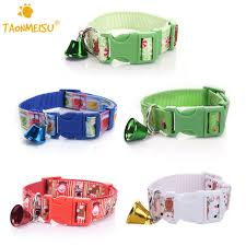 taonmeisu colorful pets cat collars with bells adjustable