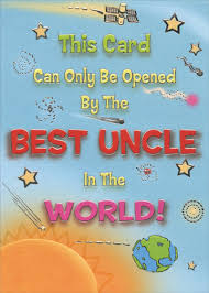 silver foil best uncle in the world funny birthday card by