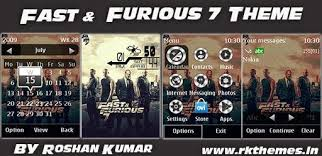 themes for nokia c2 touch and type fast furious 7 live hd theme for asha 202 203 x3 02 300 303 c2 02