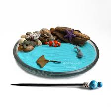zen sand garden for desk mini zen garden ocean desk accessory diy zen kit