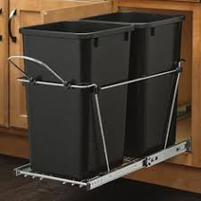 Kitchen Cabinet Trash Can Convert A Cabinet Into A Pull Out Trash Bin A Beautiful Mess