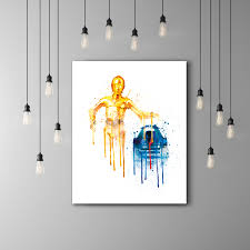 RD And CPO Star Wars Kids Room Poster Star Wars CPO RD - Star wars kids rooms