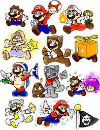 super mario 3d land power doodles mario color superlakitu