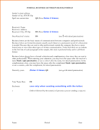 6 formal block letter format financial statement form