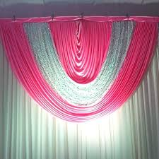 wedding backdrop canada hot pink curtains silver sequin hot pink wedding backdrop swags