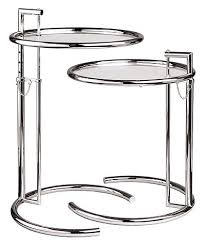 eileen grey side table height adjustable eileen gray side table tempered glass top end