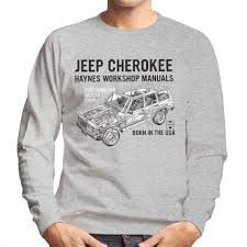 haynes owners workshop manual jeep cherokee black men u0027s sweatshirt
