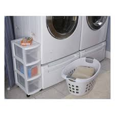 Laundry Room Cart - sterilite 3 drawer narrow storage cart 3 pack 27308003 3 x 2730