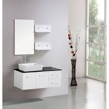 Floating Bathroom Vanity Kokols Floating 36 Inch White Cabinet Wall Mount Bathroom Vanity