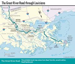Louisiana State Map by The Great River Road Road Trip Usa