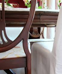 Duncan Phyfe Rose Back Chairs by Goodbye House Hello Home Blog Dining Room Table Slipcover
