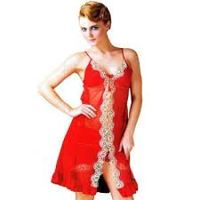 red ladies night suit ladies night suit hi look shop delhi