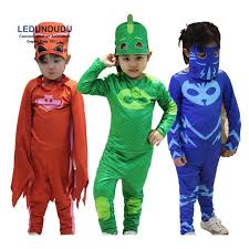 Connor Halloween Costume 2017 Pj Masks Birthday Party Dress Pj Masks Jumpsuits Kids