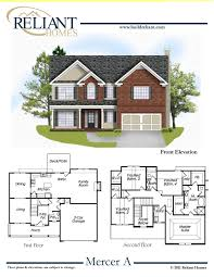 sle floor plans 2 story home reliant homes the mercer plan floor plans homes homes for
