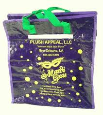 mardi gras bead bags zipper bead bag large each mardi gras spot