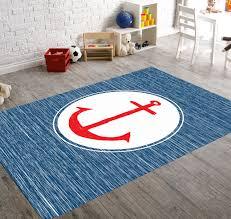 sale anchor rug nautical rug navy rug beach house decor