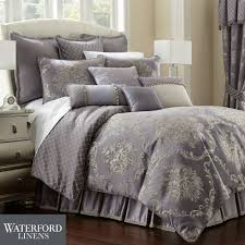 Comforters Bedding Prudence Steel Purple Comforter Bedding By Waterford Linens