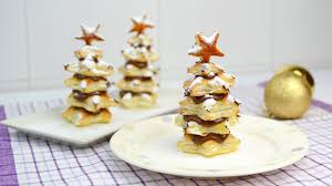 puff pastry christmas trees with nutella easy christmas dessert