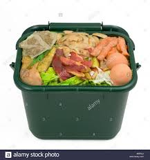compost cuisine food waste for composting in domestic recycling waste bin stock