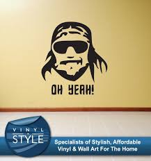 wall decals stickers home decor home furniture diy macho man wwe decal decor sticker wall art graphic various colour