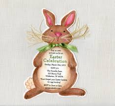 very cute bunny shaped easter invitations card idea with brown