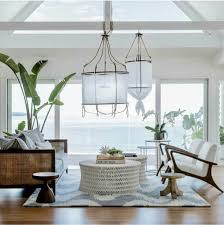 coastal living dining room love everything about this room those lamps the view coastal