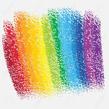 rainbow chalk background royalty free cliparts vectors and stock
