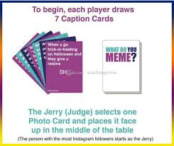 Meme Card Game - 2018 party card games what do you meme card social media board games