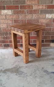 rustic wood side table wood stool wood side table rustic wood stool reclaimed wood side