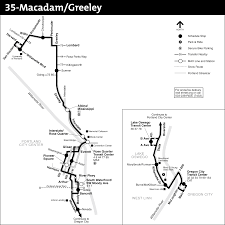 Portland Public Transportation Map by 35 Macadam Greeley