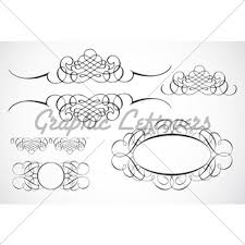 vector decorative frame ornaments gl stock images