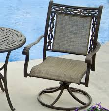 Agio Manhattan by Agio Ashmost Cast Aluminum Sling Swivel Rocker With Woven Seat And
