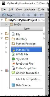 creating files from templates help pycharm