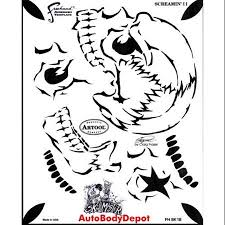 buy airbrush template stencil screamin ii screaming skull in cheap