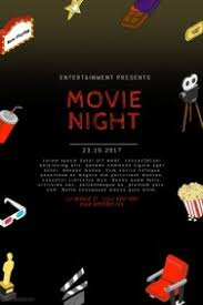 customizable design templates for movie night template postermywall